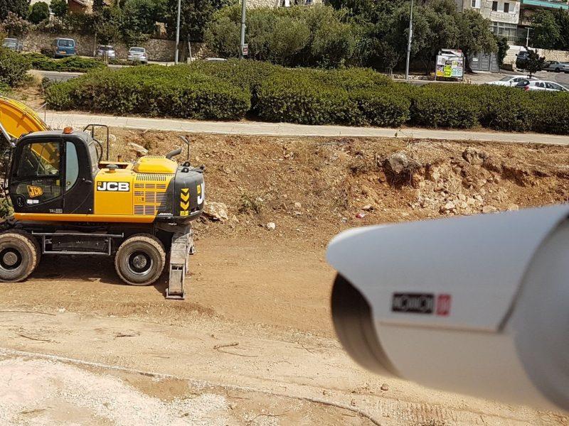 התקנת מצלמות אבטחה בירושלים לחברת בנייה